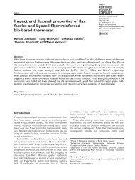 Impact and flexural properties of flax fabrics and Lyocell fiber ... - BADA