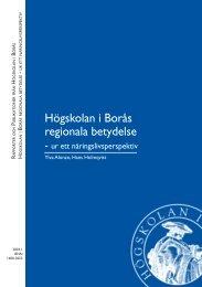 Högskolan i Borås regionala betydelse - BADA - Högskolan i Borås