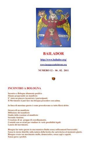 Newsletter Bailador 06-04-11