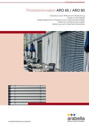 Produktinformation ARO 65 / ARO 80 - Balkon-Zaun.de