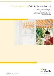 Produktinformation Offene Markise Sunrise - Balkon-Zaun.de