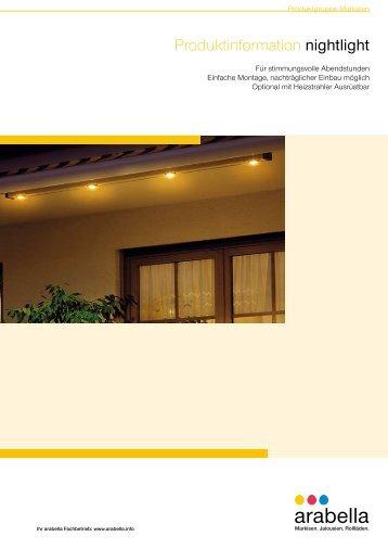 Produktinformation nightlight - Arabella