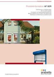 Produktinformation AF 80R - Balkon-Zaun.de