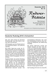 Ruderer-Blättla Nr. 12 - Bamberger Rudergesellschaft von 1884 e.V.