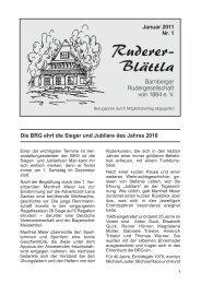 Ruderer-Blättla Nr. 1 - Bamberger Rudergesellschaft von 1884 e.V.