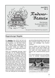Ruderer-Blättla Nr. 6 - Bamberger Rudergesellschaft von 1884 e.V.