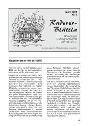 Ruderer-Blättla Nr. 3 - Bamberger Rudergesellschaft von 1884 e.V.