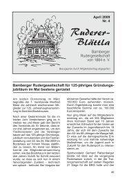 Ruderer-Blättla Nr. 4 - Bamberger Rudergesellschaft von 1884 e.V.