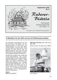 Ruderer-Blättla Nr. 9 - Bamberger Rudergesellschaft von 1884 e.V.