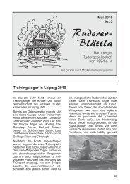 Ruderer-Blättla Nr. 5 - Bamberger Rudergesellschaft von 1884 e.V.