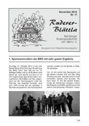 Ruderer-Blättla Nr. 11 - Bamberger Rudergesellschaft von 1884 e.V.