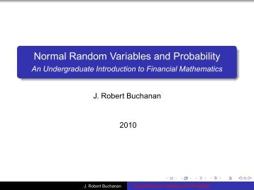 Normal Random Variables and Probability - An Undergraduate ...
