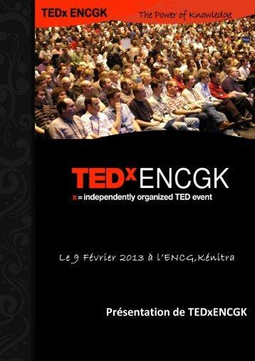 Présentation de TEDxENCGK