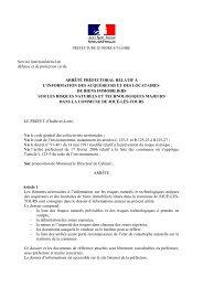 arrêté préfectoral relatif à l'information des acquéreurs et des ...