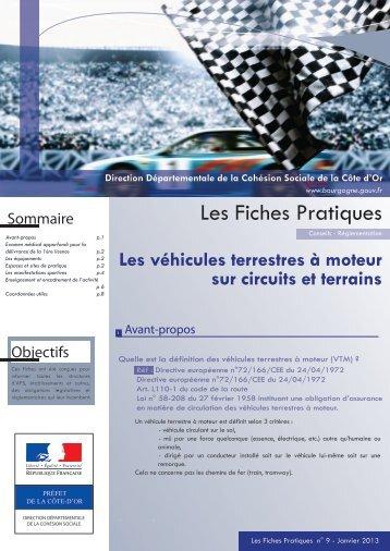 Véhicules Terrestres à Moteur (VTM) - préfecture de Côte-d'Or