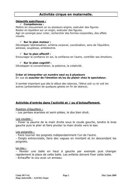 Activités Cirque En Maternelle Académie De Nancy Metz