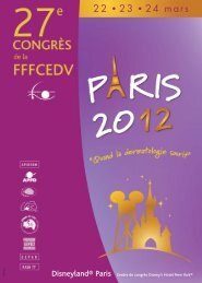PROGRAMME FFFCEDV PARIS 2012