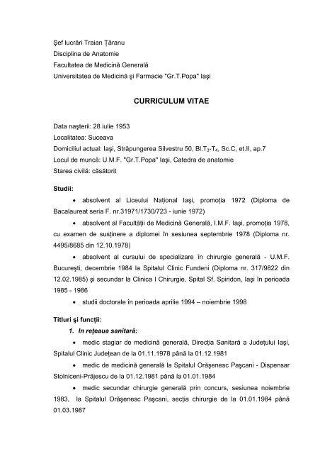 Microsoft Word - CV TARANU TRAIAN - Gr.T. Popa