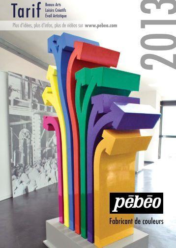 Fabricant de couleurs - Pebeo-Catalogue 2013 - Pébéo