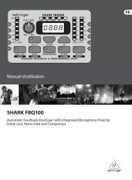 SHARK FBQ100 - Behringer