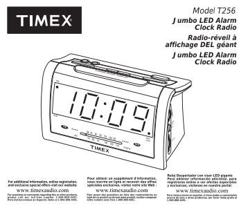 Model T256 - TIMEX Audio