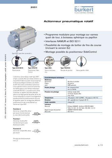 Actionneur pneumatique rotatif - Bürkert Fluid Control Systems