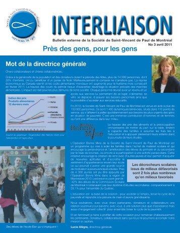 Bulletin Interliaison - Avril 2011 - Société Saint-Vincent de Paul de ...