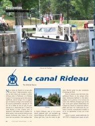 Le canal Rideau - L'Escale Nautique