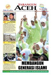 Tabloid Edisi 16 November 2011 - BAPPEDA Aceh