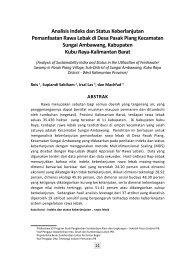 Analisis Indeks dan Status Keberlanjutan ... - BAPPEDA Aceh