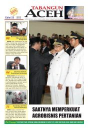 Tabloid Edisi 23 Juni 2012 - BAPPEDA Aceh