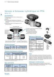 Vannes à boisseau cylindrique en PFA—Série 43 (MS ... - Swagelok