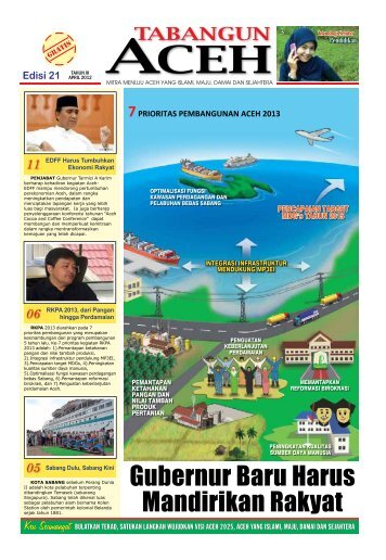 Tabloid Edisi 21 April 2012 - BAPPEDA Aceh