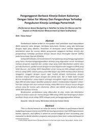 Penganggaran Berbasis Kinerja Dalam Kaitannya ... - BAPPEDA Aceh