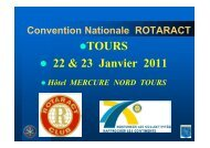 TOURS 22 & 23 Janvier 2011 - Rotaract France