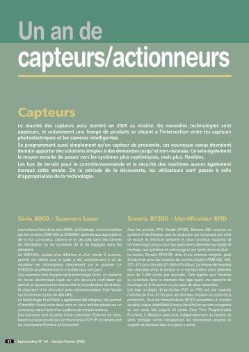 capteurs/actionneurs - J'automatise