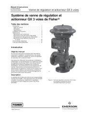 Système de vanne de régulation et actionneur GX 3 voies de Fisherr