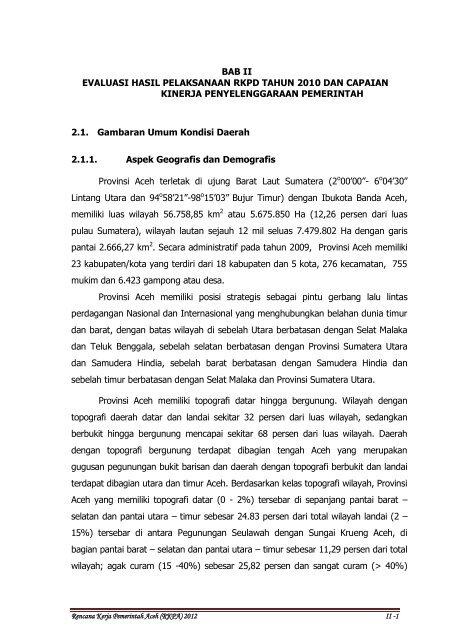 Nota Dinas Bappeda Aceh