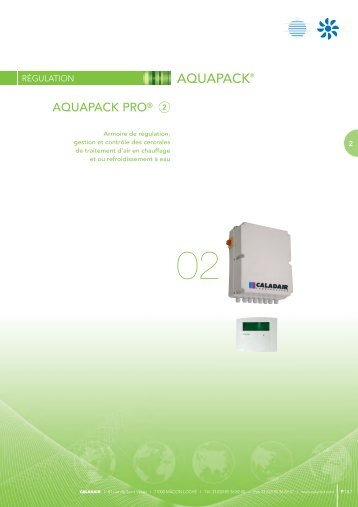Documentation AQUAPACK PRO au format PDF - caladair