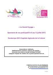 « Le Grand Voyage » Spectacle de rue participatif le 6 (ou 7 ... - EPID