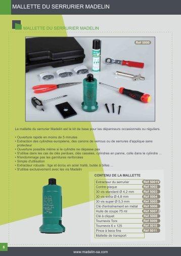 Extracteurs, Casse-cylindre et accessoires - madelin sa