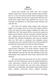 VI-1 BAB VI P E N U T U P Rencana Kerja ... - BAPPEDA Aceh