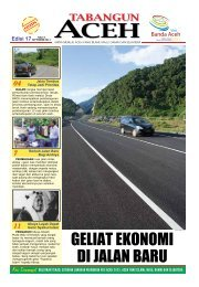 GELIAT EKONOMI DI JALAN BAru - BAPPEDA Aceh - Pemerintah ...