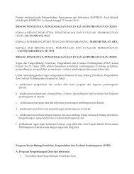 Bidang Perencanaan Pembangunan Evaluasi ... - BAPPEDA Aceh