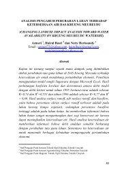 analisis pengaruh perubahan lahan terhadap ... - BAPPEDA Aceh
