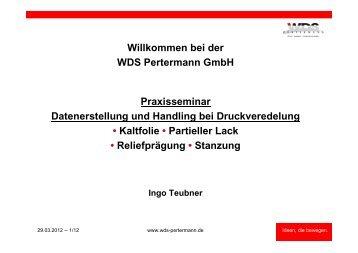 Ablauf - WDS Pertermann