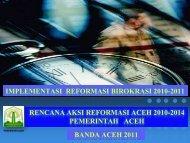 IMPLEMENTASI REFORMASI BIROKRASI ... - BAPPEDA Aceh