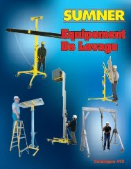 Equipement De Levage - Sumner Manufacturing Company Inc.