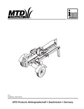 MTD Products Aktiengesellschaft √ SaarbrΩcken ... - MTD Europe