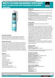MASTIC SILICONE BAIGNOIRES ACRYLIQUES - Bison